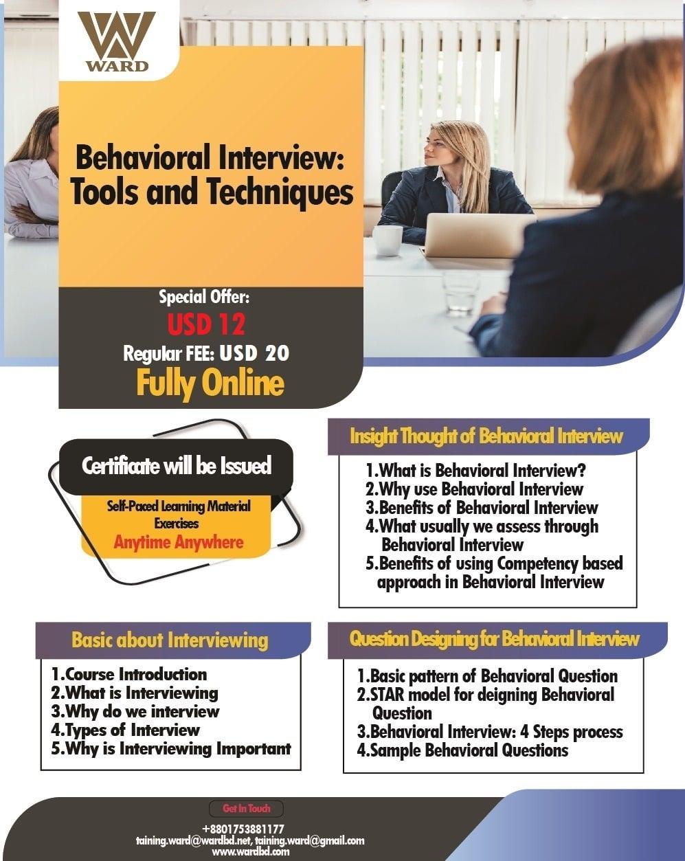Behavioral Interview: Tools & Techniques