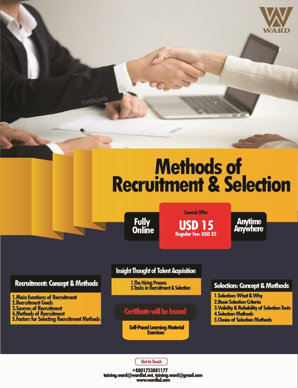 Methods of Recruitment and Selection