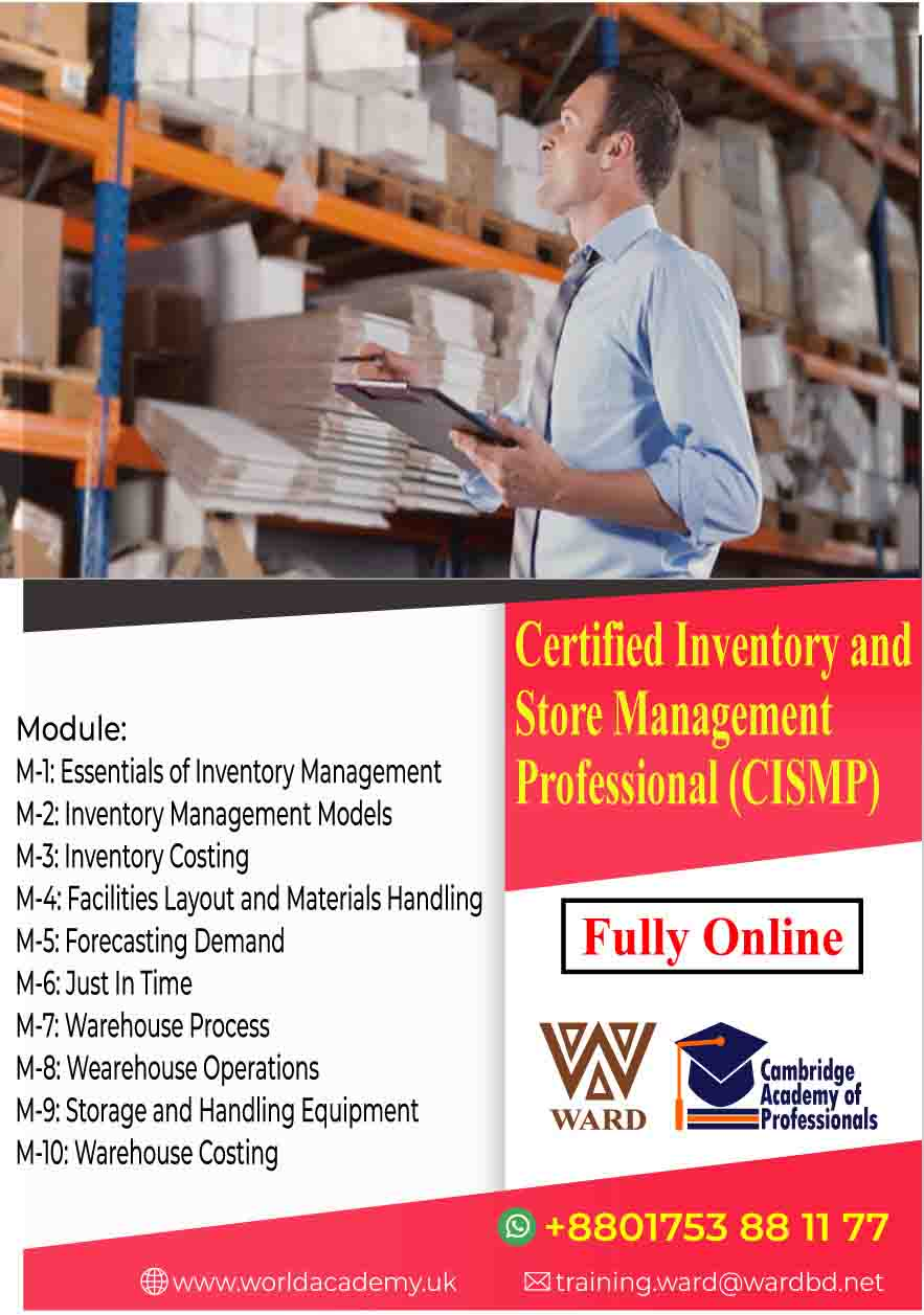Certified Inventory and Store Management Professional (CISMP)
