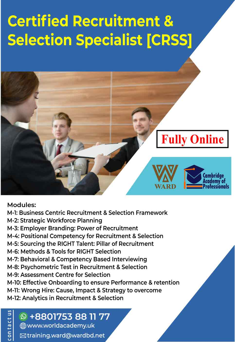 Certified Recruitment & Selection Specialist [CRSS]