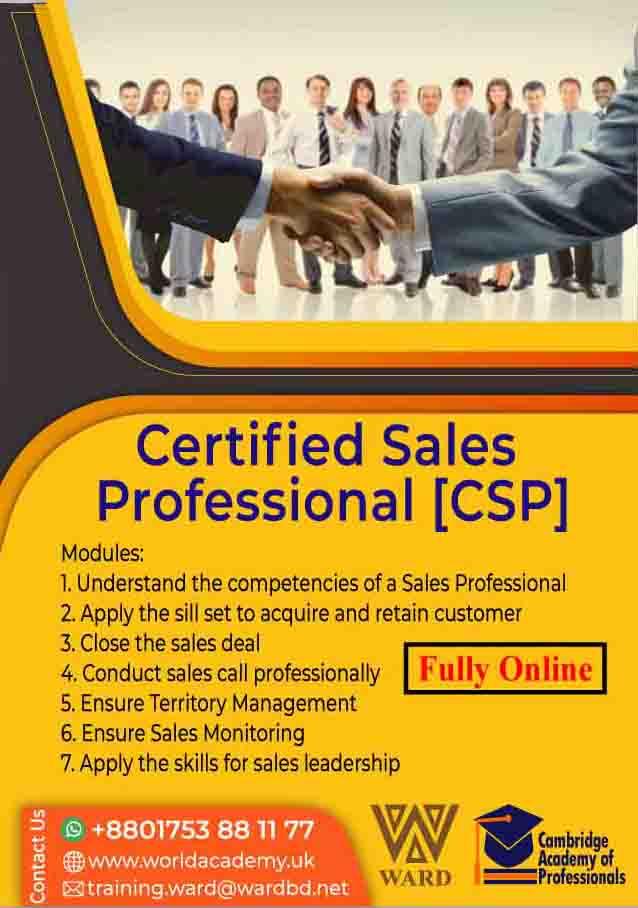Certified Sales Professional [CSP]
