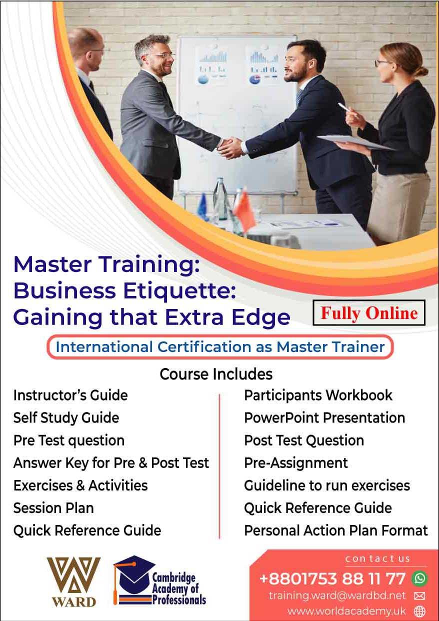 Master Training: Business Etiquette: Gaining that Extra Edge