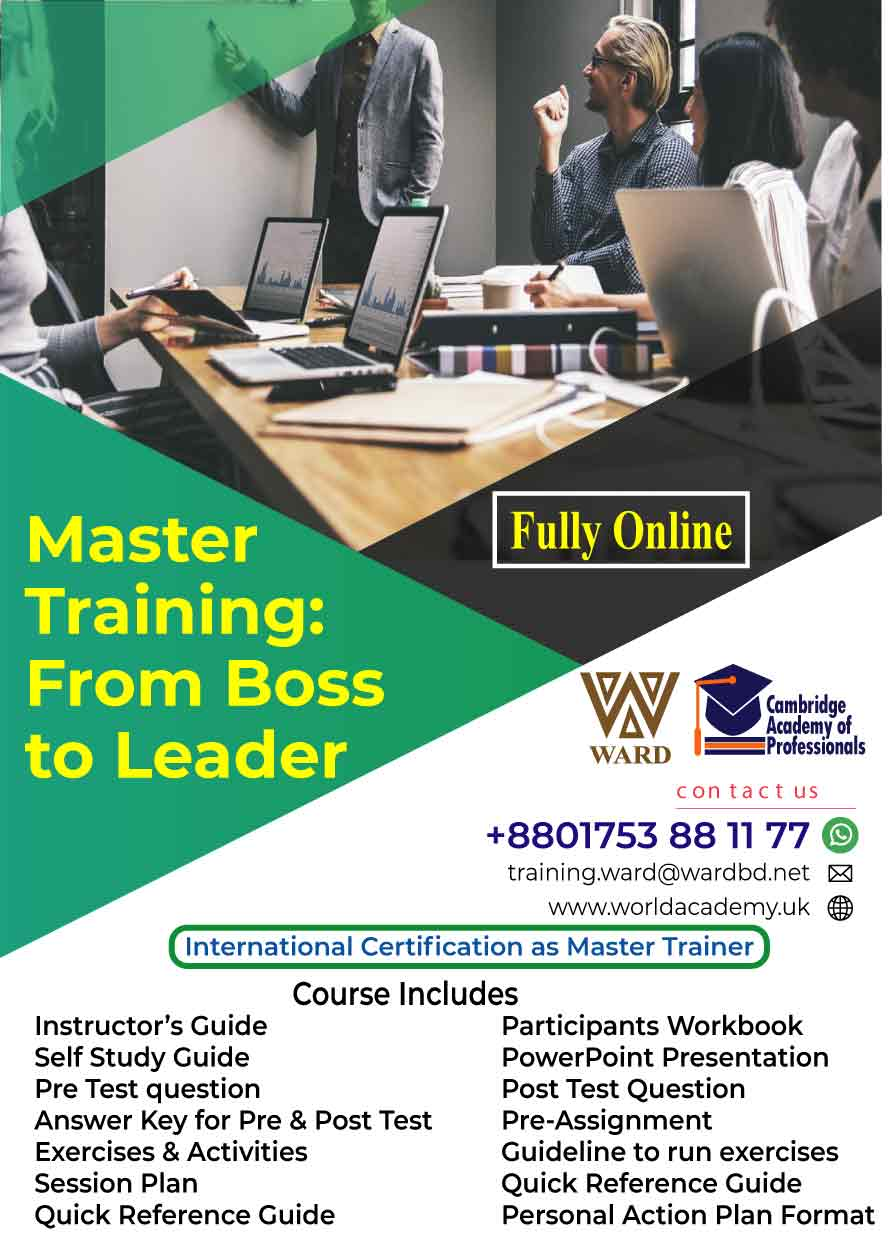 Master Training: From Boss to Leader