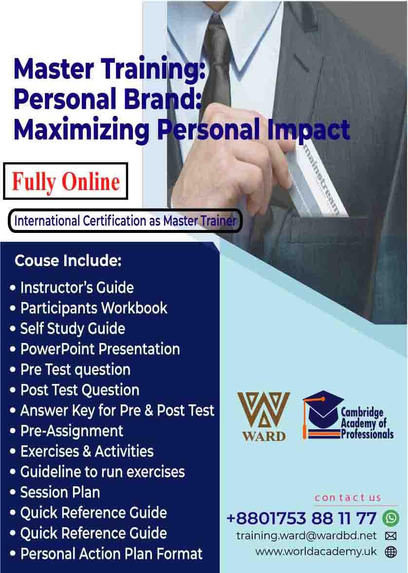 Master Training: Personal Brand: Maximizing Personal Impact