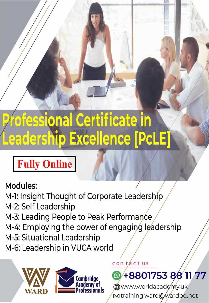 Professional Certificate in Leadership Excellence [PcLE]