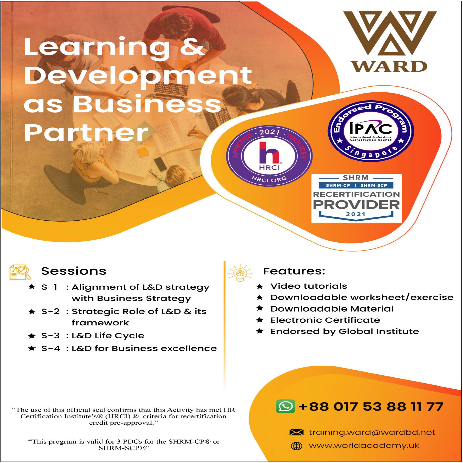 Learning & Development as Business Partner